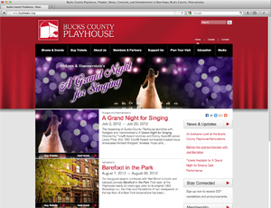 Bucks County Playhouse Website