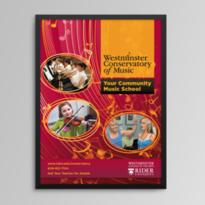 Layout and design for Westminster Conservatory of Music course catalog.
