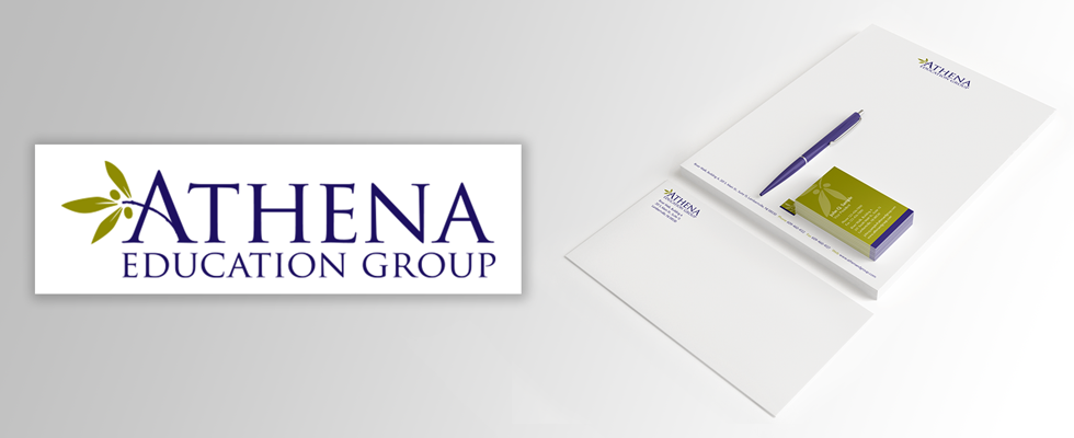 Medical education company branding.