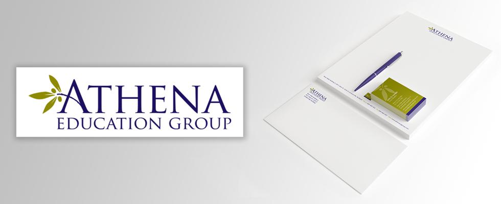 Medical education company branding.