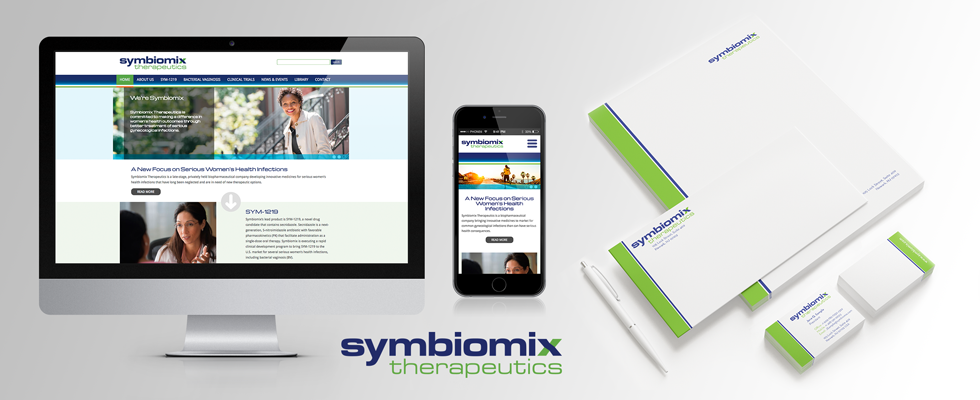 Clean and simple website design for pharmaceutical company.