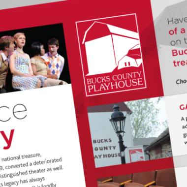 Logo design for playhouse and county theater.