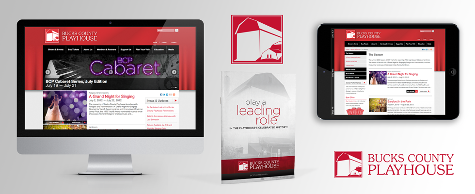 Brand image development and web design for theater.