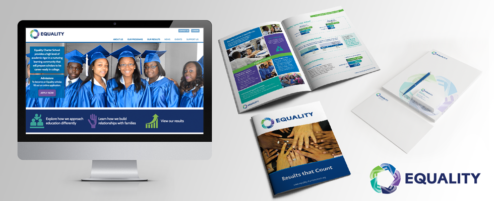 Engaging website design for academic charter school.