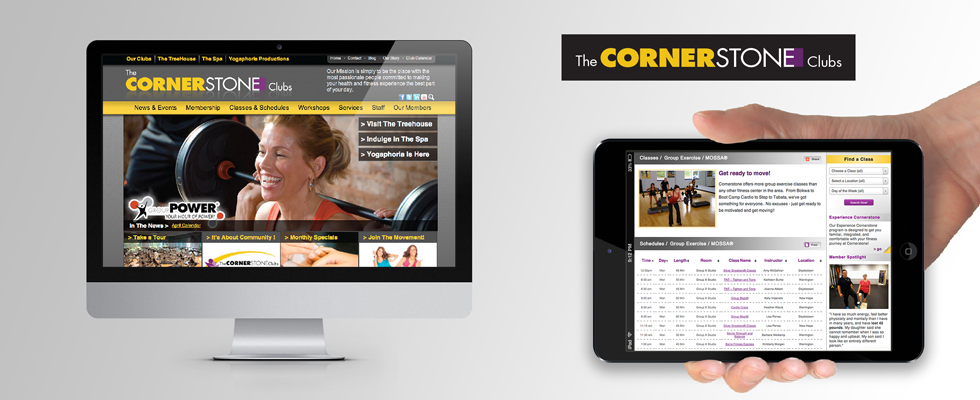 Website design for regional gym.