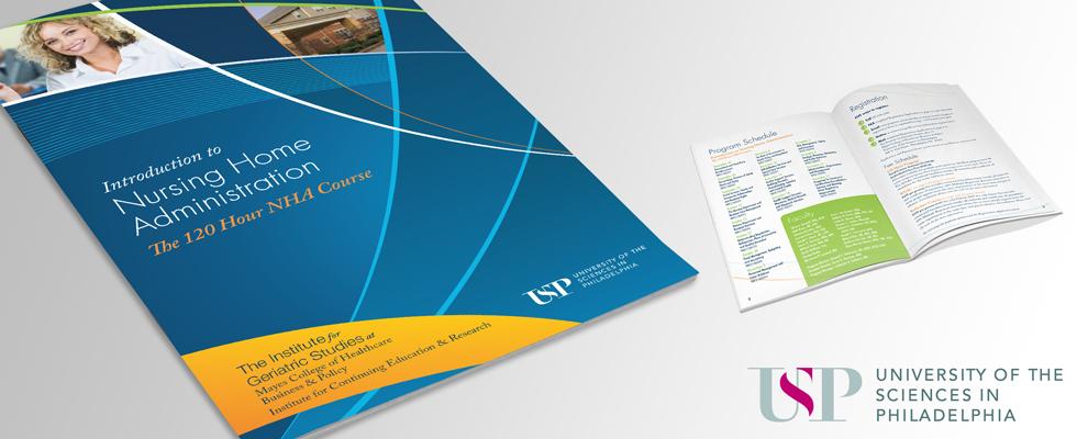 Brochure design for higher education.