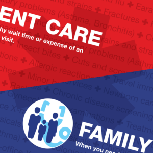 Direct mail marketing for urgent care center