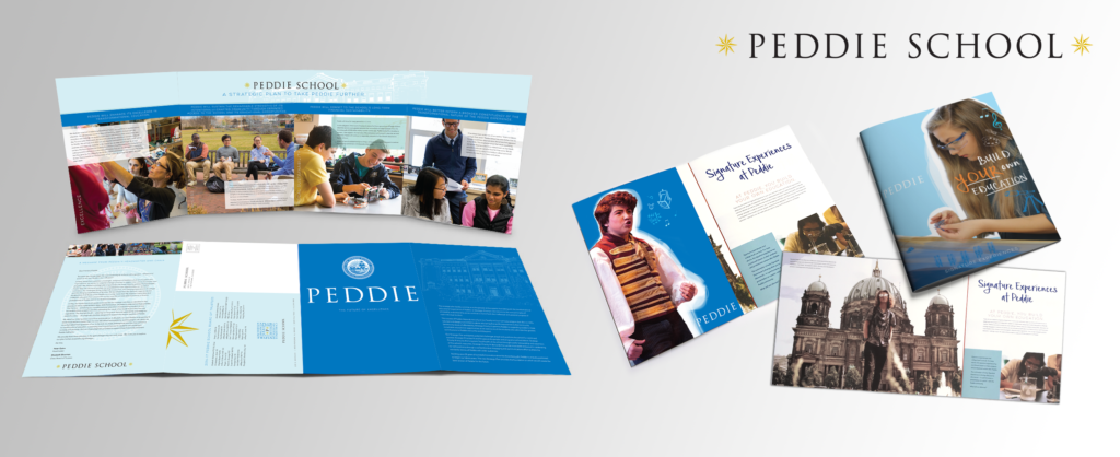 Print collateral for NJ boarding and day school